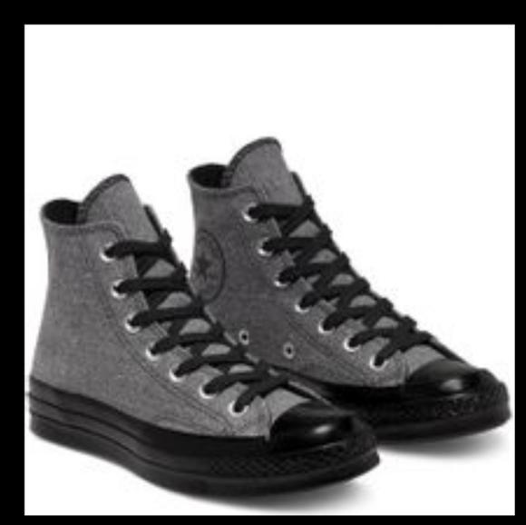 Converse Mens Chuck 70 Hi Canvas Renew 167106C Gary Black Men's Size 10